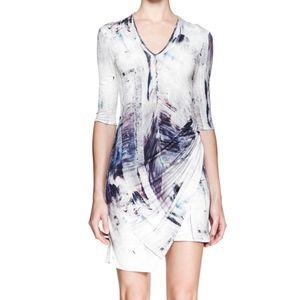 NWT Helmut Lang Tidal print jersey dress, size S